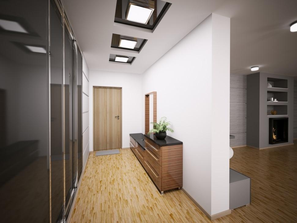 Натяжной потолок в кородоре