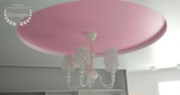 Сочетание белого и розового сатина
